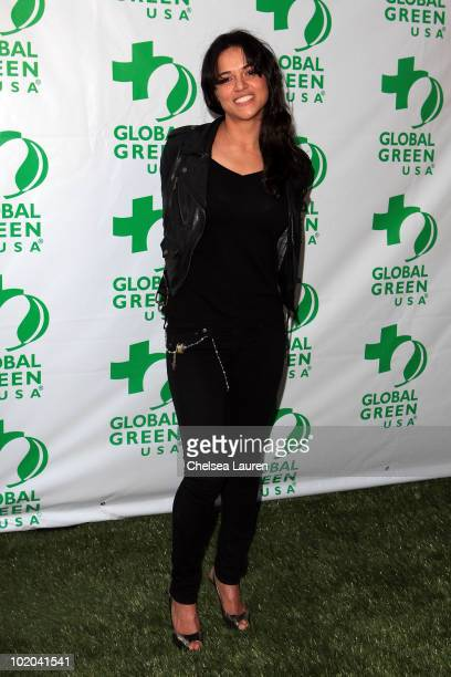 Actress Michelle Rodriguez arrives at Global Green USA's 14th Annual Millennium Awards at Fairmont Miramar Hotel on June 12 2010 in Santa Monica...