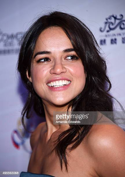 Actress Michelle Rodriguez arrives at the Chinese American Film Festival Opening Ceremony and Gold Angel Awards Ceremony at The Ricardo Montalban...