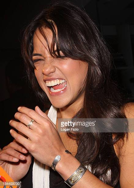 Actress Michelle Rodriguez arrives at the Fast Furious release party at LIV Fontainebleau Miami Beach on March 9 2009 in Miami Beach Florida