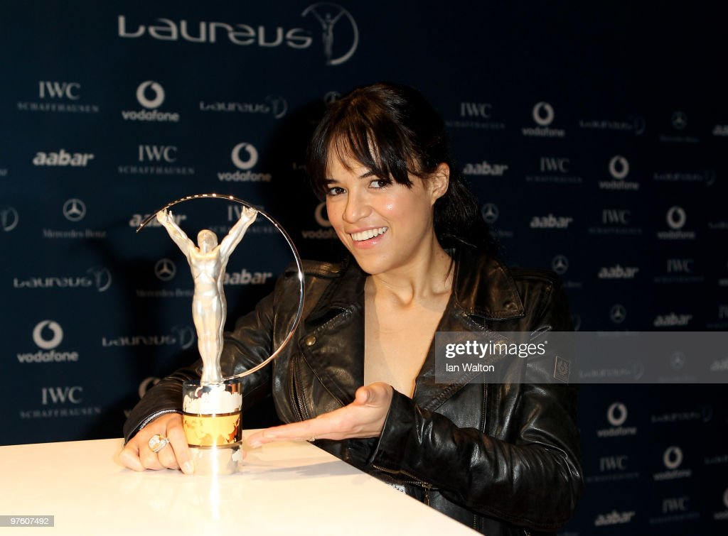 Actress Michelle Rodriguez arrives at the Laureus World Sports Awards 2010 at Emirates Palace Hotel on March 10, 2010 in Abu Dhabi, United Arab Emirates.