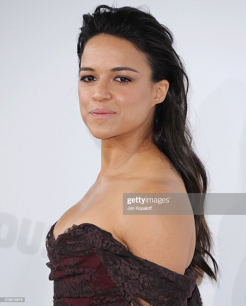 Actress Michelle Rodriguez arrives at the Los Angeles Premiere 'Furious 7' at TCL Chinese Theatre IMAX on April 1, 2015 in Hollywood, California.