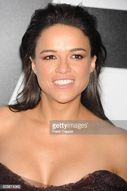 Actress Michelle Rodriguez arrives at the premiere of Furious 7 held at the TCL Chinese Theater in Hollywood