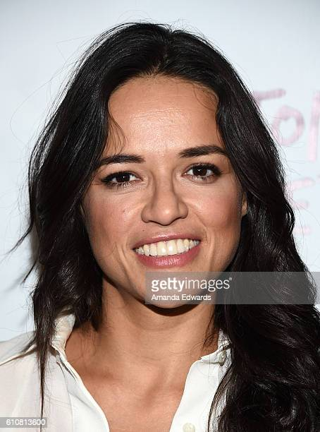 Actress Michelle Rodriguez arrives at the premiere of Momentum Pictures' 'Milton's Secret' at the TCL Chinese 6 Theatres on September 27 2016 in...