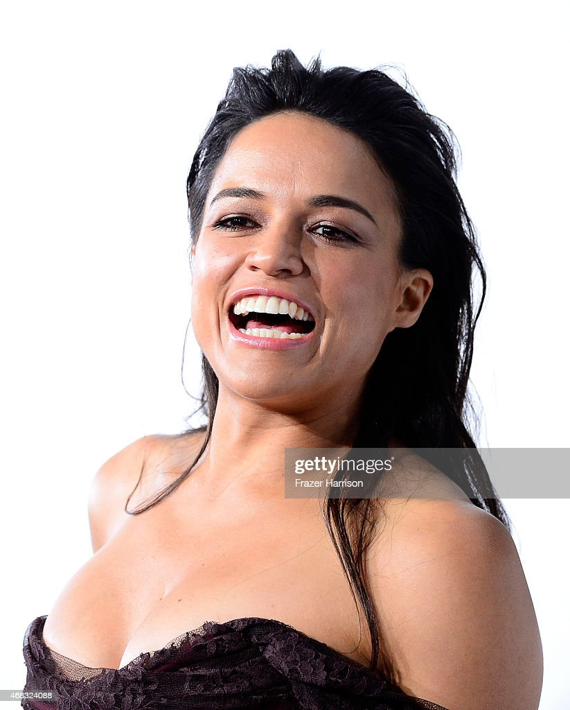 Actress Michelle Rodriguez arrives at Universal Pictures Premiere of 'Furious 7'' at the TLC Chinese Theatre, Hollywood, on April 1, 2015 in Los Angeles.CA