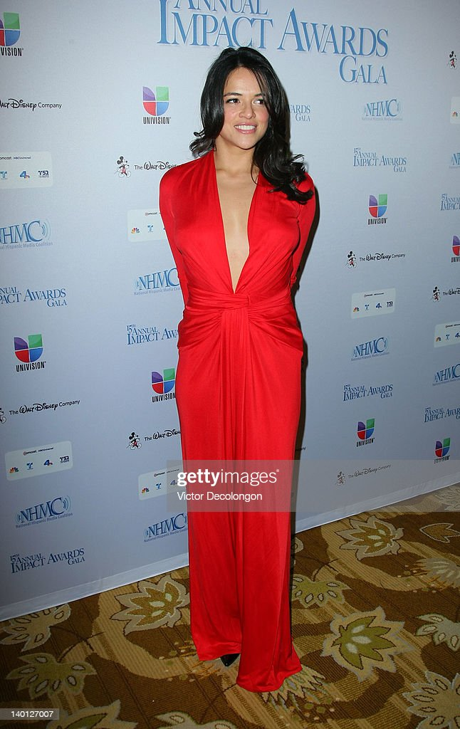 Actress Michelle Rodriguez arrives for The National Hispanic Media Coalition's 15th Annual Impact Awards - Arrivals at the Beverly Wilshire Four Seasons Hotel on February 24, 2012 in Beverly Hills, California.