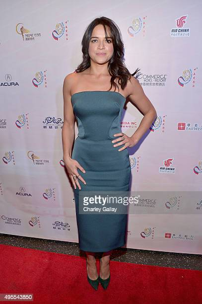 Actress Michelle Rodriguez attends the 11th Annual Chinese American Film Festival Opening Ceremony at The Montalban Theatre on November 3 2015 in...