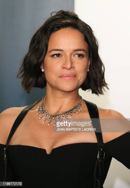 Actress Michelle Rodriguez attends the 2020 Vanity Fair Oscar Party following the 92nd Oscars at The Wallis Annenberg Center for the Performing Arts...