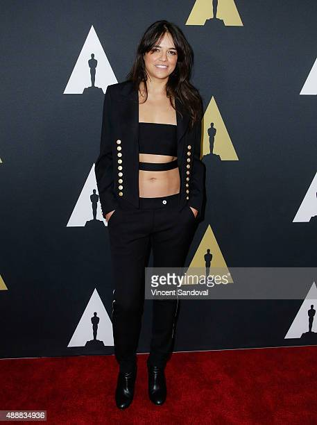 Actress Michelle Rodriguez attends The Academy of Motion Picture Arts and Sciences 42nd Student Academy Awards at AMPAS Samuel Goldwyn Theater on...