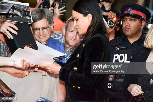 Actress Michelle Rodriguez attends the Assignment premiere during 2016 Toronto International Film Festival at Ryerson Theatre on September 14 2016 in...