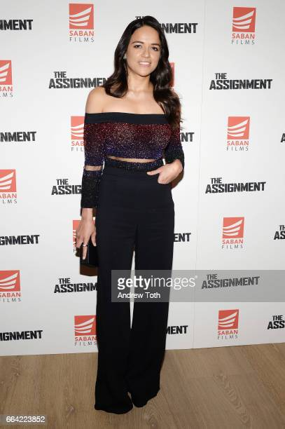 Actress Michelle Rodriguez attends 'The Assignment' screening at the Whitby Hotel on April 3 2017 in New York City