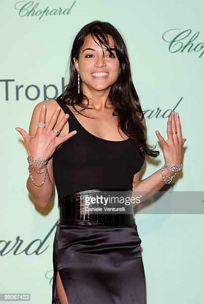 Actress Michelle Rodriguez attends The Chopard Trophy Dinner at the Hotel Martinez during the 63rd Annual International Cannes Film Festival on May...