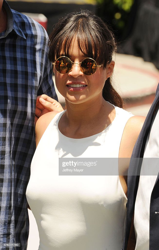 Actress Michelle Rodriguez attends the 'Fast & Furious - Supercharged' ride premiere at Universal Studios Hollywood on June 23, 2015 in Universal City, California.