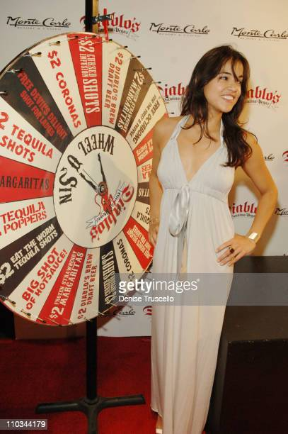 Actress Michelle Rodriguez attends the Grand Opening of Diablo's Cantina at the Monte Carlo Resort and Casino on October 13 2007 in Las Vegas Nevada