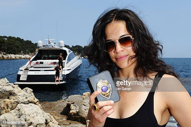Actress Michelle Rodriguez attends the Sea Shepherd lunch sponsored by producers Mohammed Al Turki and Hamza Talhouni honoring Michelle Rodriguez and...