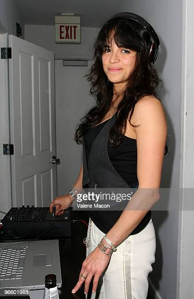 Actress Michelle Rodriguez attends The Tasya Van Ree Art Exhibit hosted by Amber Heard on February 11 2010 in Beverly Hills California