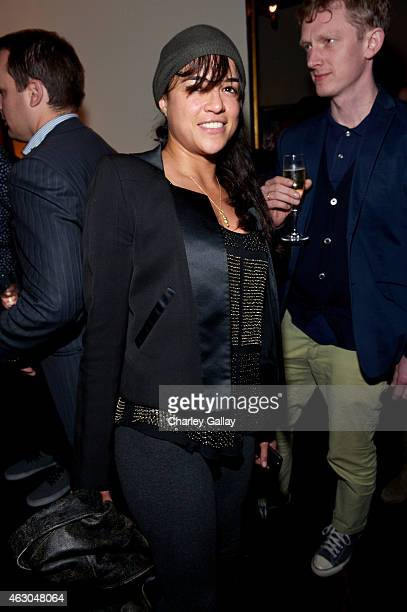 Actress Michelle Rodriguez attends the Warner Music Group annual Grammy celebration at Chateau Marmont on February 8 2015 in Los Angeles California