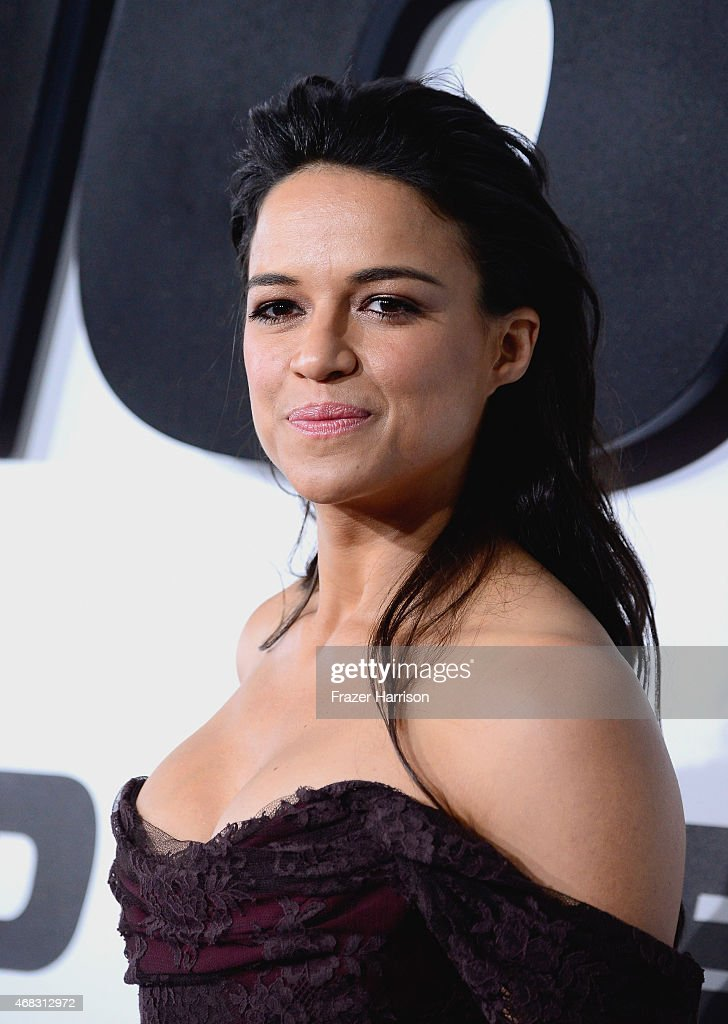 Actress Michelle Rodriguez attends Universal Pictures' 'Furious 7' premiere at TCL Chinese Theatre on April 1, 2015 in Hollywood, California.