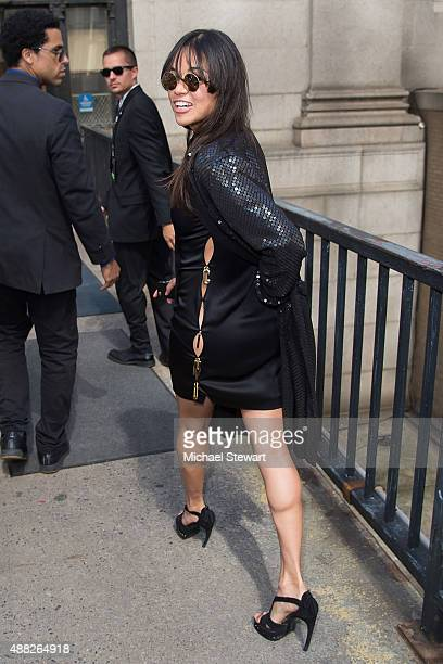 Actress Michelle Rodriguez is seen in the Garment District on September 14 2015 in New York City
