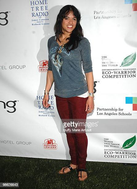 Actress Michelle Rodriquez attends Global Home Tree event celebrating the 40th Anniversary of Earth Day at JW Marriott Los Angeles at LA LIVE on...