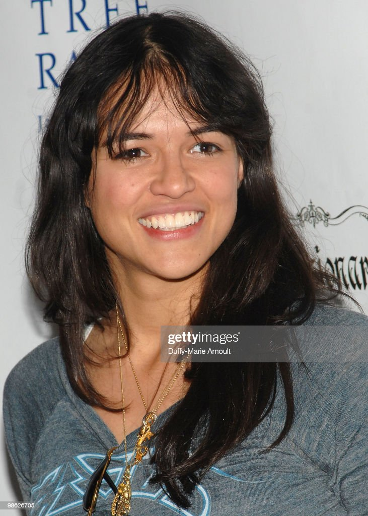 Actress Michelle Rodriquez attends Global Home Tree event celebrating the 40th Anniversary of Earth Day at JW Marriott Los Angeles at L.A. LIVE on April 22, 2010 in Los Angeles, California.