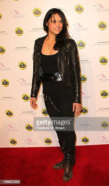Actress Michelle Rodriquez attends the Lotus Cars Launch event on November 12, 2010 in Los Angeles, California.