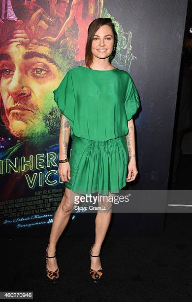 Actress Michelle Sinclair attends the premiere of Warner Bros Pictures' 'Inherent Vice' at TCL Chinese Theatre on December 10 2014 in Hollywood...