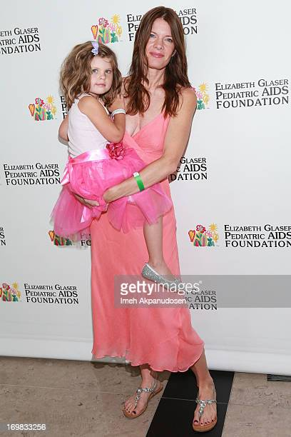 Actress Michelle Stafford and her daughter Natalia Scout Lee Stafford attend the Elizabeth Glaser Pediatric AIDS Foundation's 24th Annual 'A Time For...