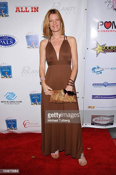 Actress Michelle Stafford arrives at voice actress Nancy Cartwright's 5th Annual Monte Carlo Night to benefit LAPD Devonshire PALS and the Boys Girls...