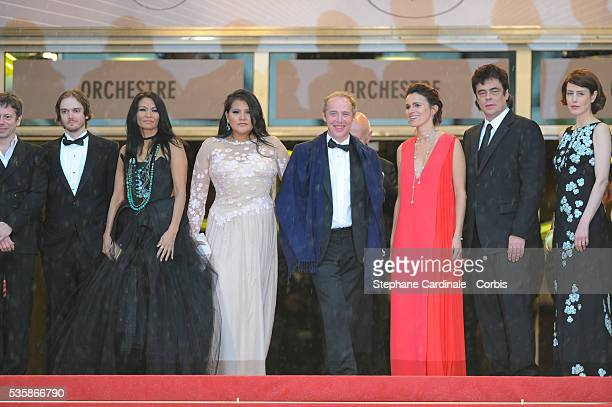 Actress Michelle Thrush asctress Misty Upham Director Arnaud Desplechin French Culture minister Aurelie Filippetti actor Benicio Del Toro actress...