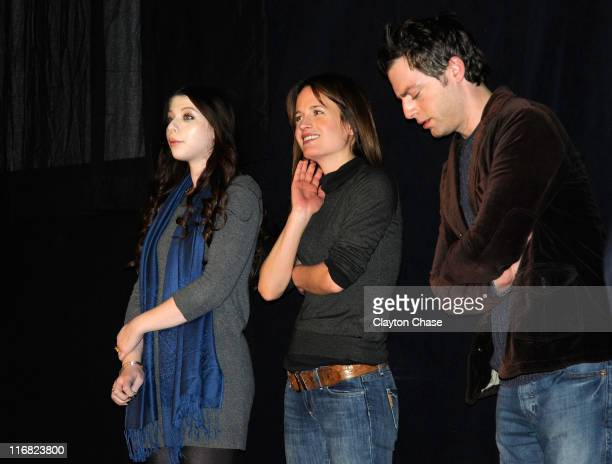 Actress Michelle Trachtenberg actress Elizabeth Reaser and actor Justin Kirk attend the premiere of 'Against the Current' during the 2009 Sundance...