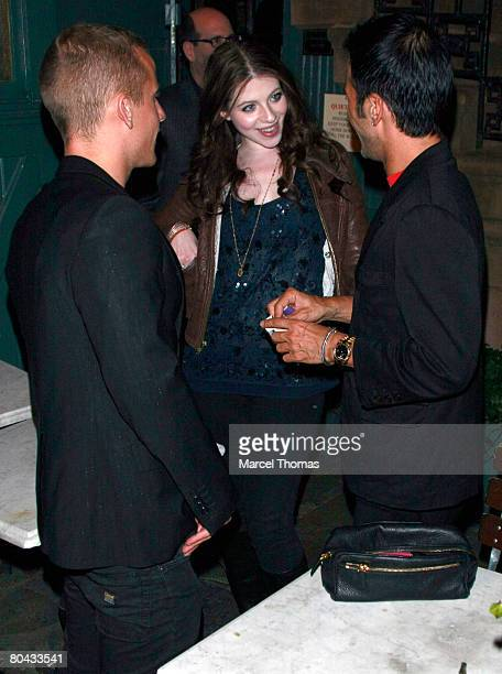 Actress Michelle Trachtenberg and designer Marc Jacobs right visit Ye Waverly Inn resturant on March 29 2008 in New York City