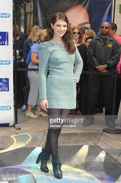 Actress Michelle Trachtenberg appears for the Crest 3D White Collection launch in Herald Square on April 6 2010 in New York City