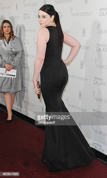 Actress Michelle Trachtenberg arrives at The Art Of Elysium 8th Annual Heaven Gala at Hangar 8 on January 10 2015 in Santa Monica California