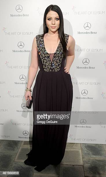 Actress Michelle Trachtenberg arrives at The Art of Elysium's 7th Annual HEAVEN Gala at the Guerin Pavilion at the Skirball Cultural Center on...