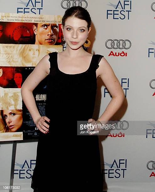 Actress Michelle Trachtenberg arrives at the Los Angeles premiere of 'Southland Tales' presented by AFI FEST 2007 at the ArcLight Theater on November...