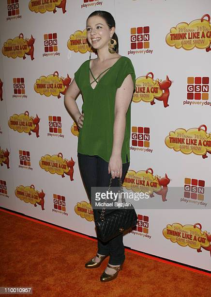 Actress Michelle Trachtenberg arrives at the Meow Mix Think Like a Cat Game Show Premiere on November 12 2008 in Los Angeles California