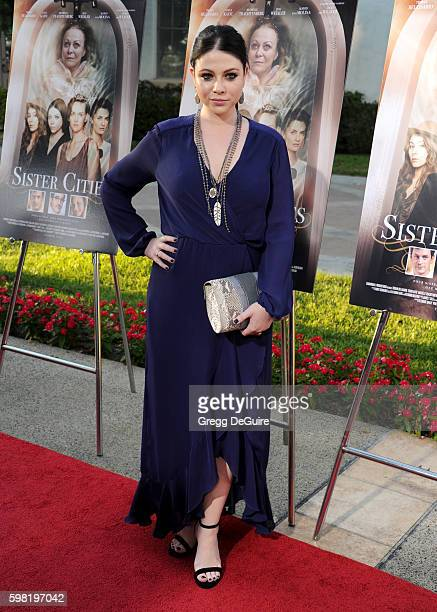 Actress Michelle Trachtenberg arrives at the premiere of Lifetime's Sister Cities at Paramount Theatre on August 31 2016 in Hollywood California