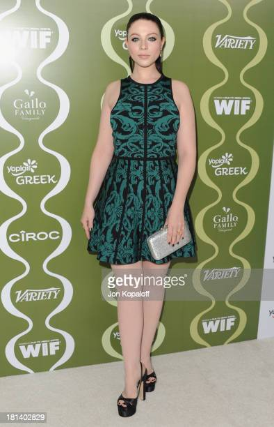 Actress Michelle Trachtenberg arrives at the Variety And Women In Film Pre-Emmy Party at Scarpetta on September 20, 2013 in Beverly Hills, California.