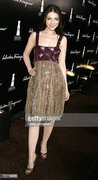 Actress Michelle Trachtenberg arrives to the Rodeo Drive walk of style awards ceremony on October 8 2006 in Beverly Hills California