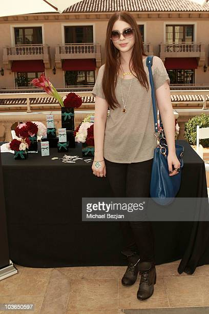 Actress Michelle Trachtenberg at the Band-Aid booth during Kari Feinstein Primetime Emmy Awards Style Lounge Day 1 held at Montage Beverly Hills...