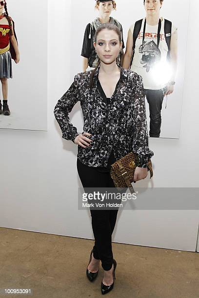 Actress Michelle Trachtenberg attends book launch party for 'Glastonbury Another Stage' at Milk Studios on May 25 2010 in New York City