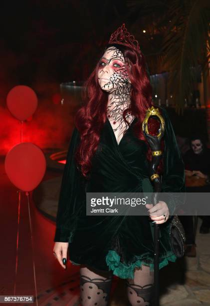 Actress Michelle Trachtenberg attends Just Jared's 6th Annual Halloween Party on October 27 2017 in Beverly Hills California