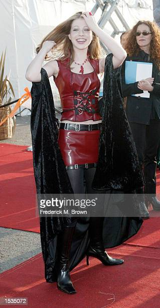 Actress Michelle Trachtenberg attends the 9th Annual Dream Halloween Los Angeles benefit on October 26 2002 in Santa Monica California The fund...