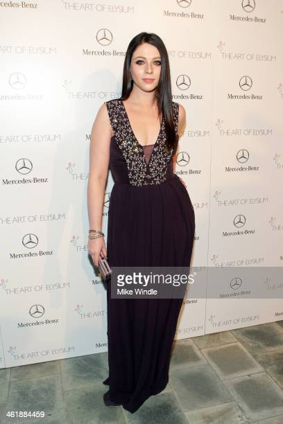 Actress Michelle Trachtenberg attends The Art of Elysium's 7th Annual HEAVEN Gala presented by MercedesBenz at Skirball Cultural Center on January 11...