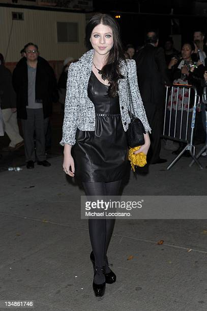 Actress Michelle Trachtenberg attends the Cinema Society Piaget screening of WE at The Museum of Modern Art on December 4 2011 in New York City