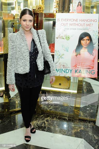 Actress Michelle Trachtenberg attends the launch for Is Everyone Hanging Out Without Me by Mindy Kaling hosted by Tory Burch on November 1 2011 in...