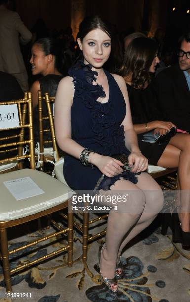 Actress Michelle Trachtenberg attends the Marchesa Spring 2012 fashion show during MercedesBenz Fashion Week at The Plaza Hotel on September 13 2011...