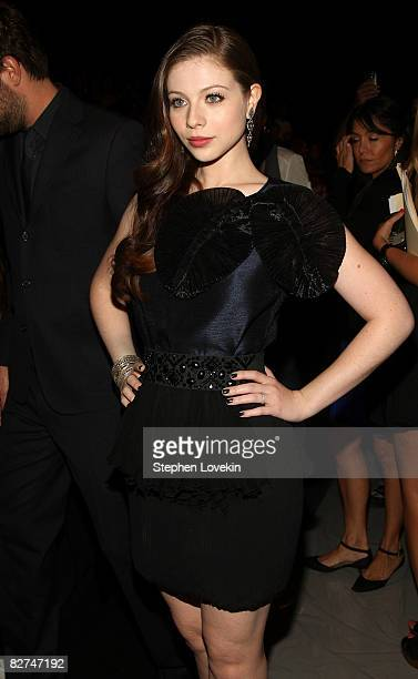 Actress Michelle Trachtenberg attends the Max Azria Spring 2009 fashion show during MercedesBenz Fashion Week at The Tent Bryant Park on September 9...