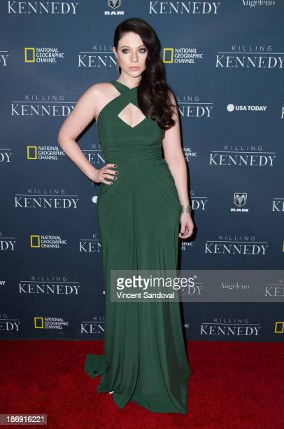 """Actress Michelle Trachtenberg attends the National Geographic channel Los Angeles premiere of """"Killing Kennedy"""" at Saban Theatre on November 4, 2013..."""