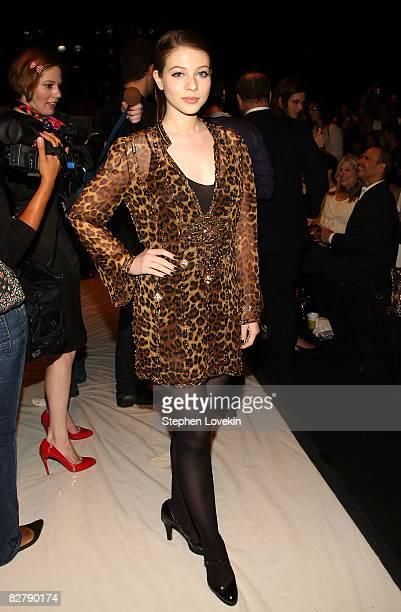Actress Michelle Trachtenberg attends the Project Runway Finalists Fashion Show Spring 2009 fashion show during MercedesBenz Fashion Week at The...